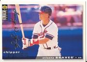 1995 Collector's Choice Silver Signature #154 Chipper Jones