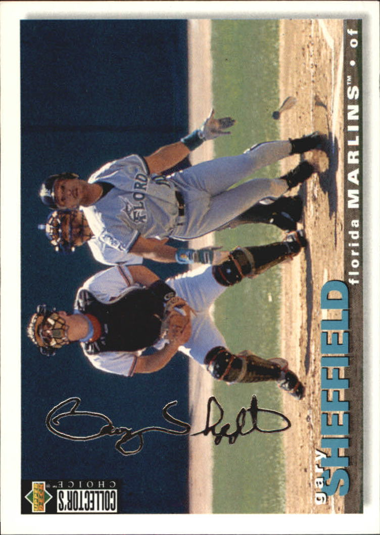 1995 Collector's Choice Silver Signature #300 Gary Sheffield