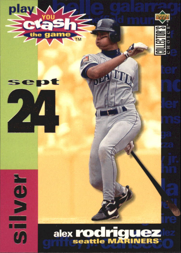 1995 Collector's Choice Crash the Game #CG17 Alex Rodriguez 9/10