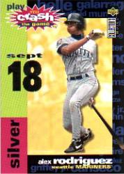 1995 Collector's Choice Crash the Game #CG17B Alex Rodriguez 9/18