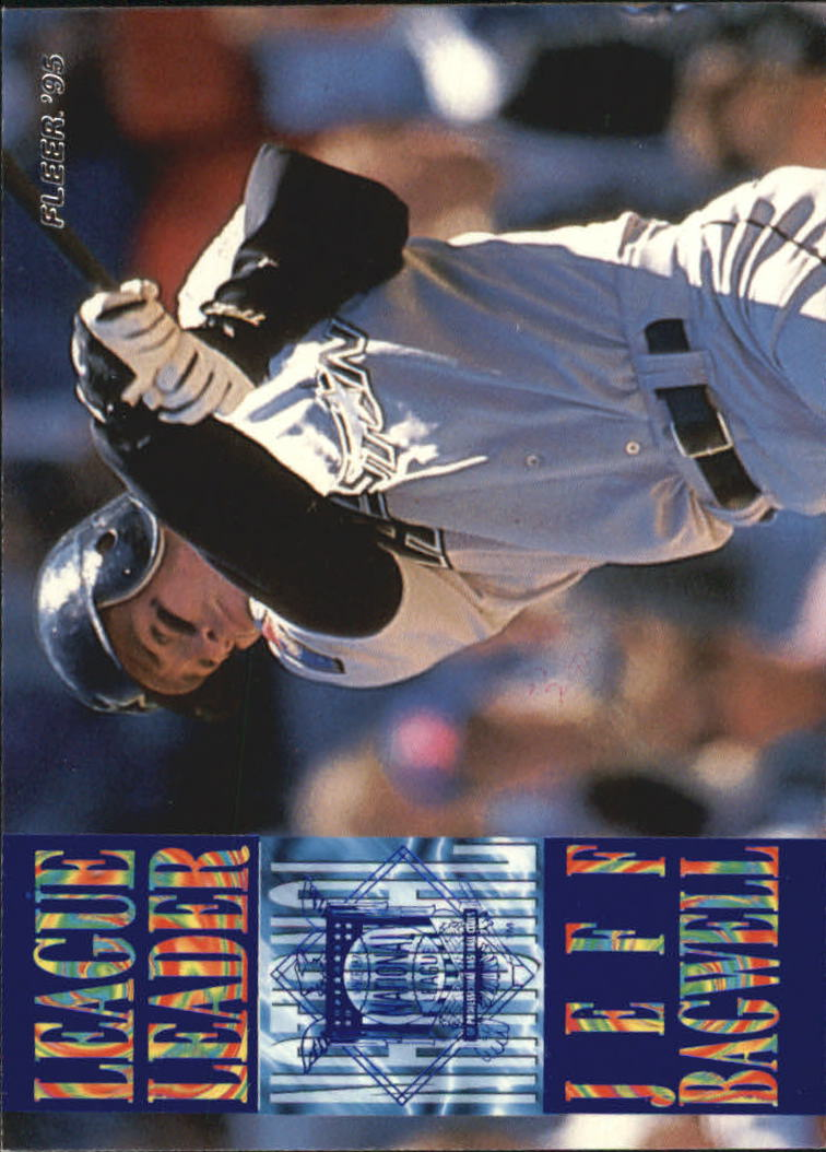 1995 Fleer League Leaders #8 Jeff Bagwell