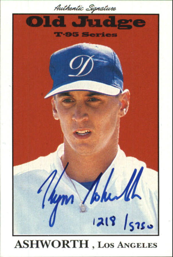 1995 Signature Rookies Old Judge Signatures #2 Kym Ashworth