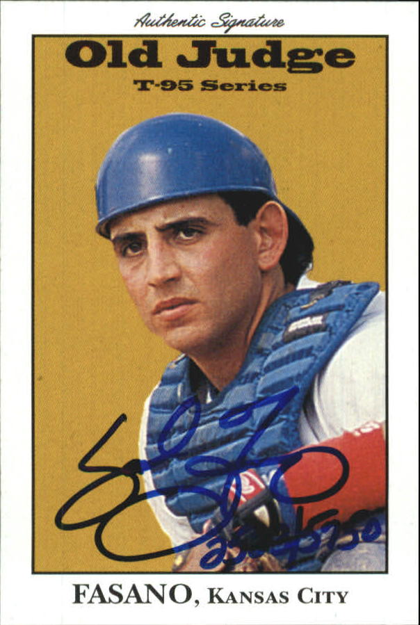 1995 Signature Rookies Old Judge Signatures #12 Sal Fasano