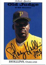 1995 Signature Rookies Old Judge Signatures #17 Stacy Hollins