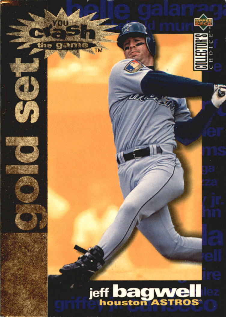 1995 Collector's Choice Crash the Game Gold Exchange #1 Jeff Bagwell