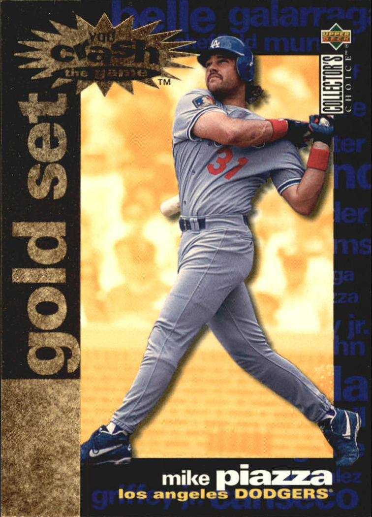 1995 Collector's Choice Crash the Game Gold Exchange #15 Mike Piazza