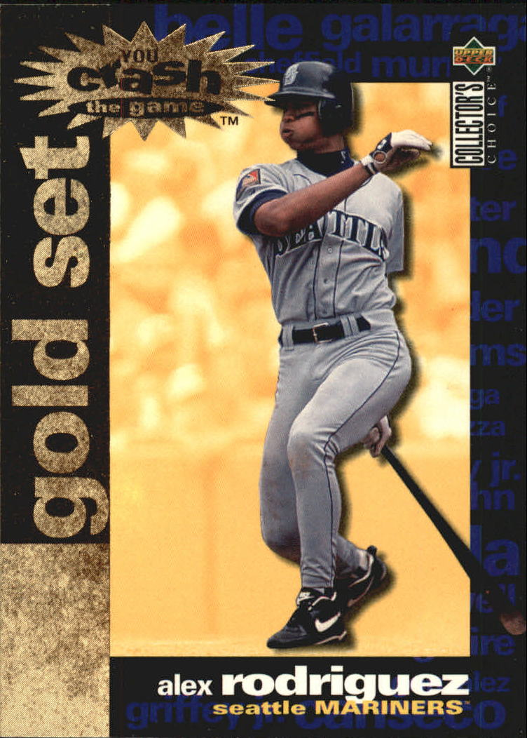 1995 Collector's Choice Crash the Game Gold Exchange #17 Alex Rodriguez