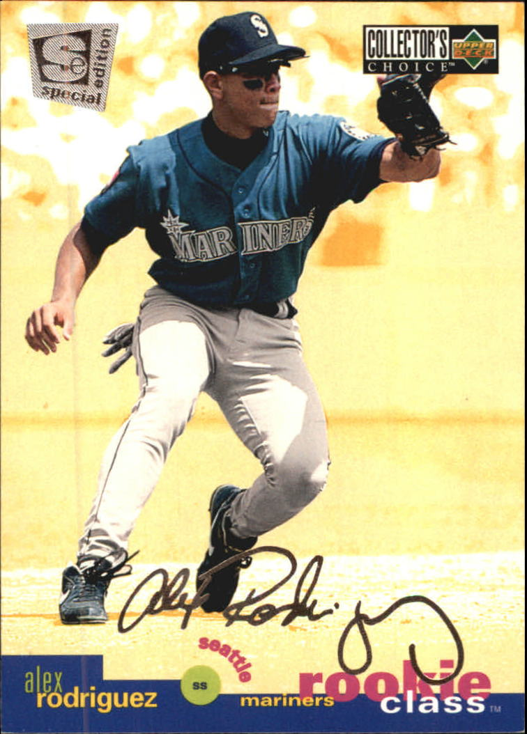 1995 Collector's Choice SE Silver Signature #1 Alex Rodriguez