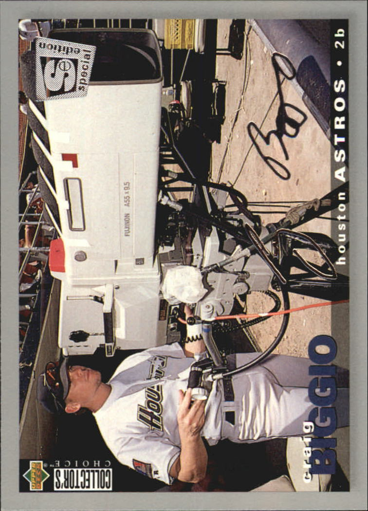 1995 Collector's Choice SE Silver Signature #38 Craig Biggio