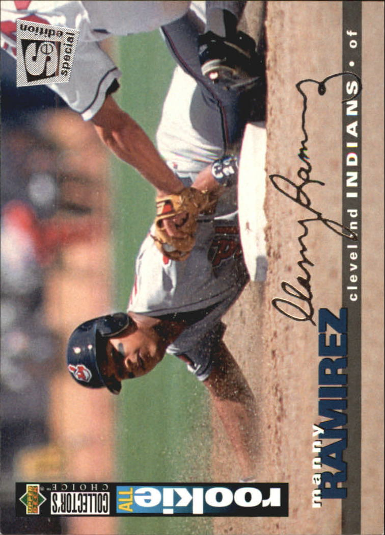 1995 Collector's Choice SE Silver Signature #117 Manny Ramirez