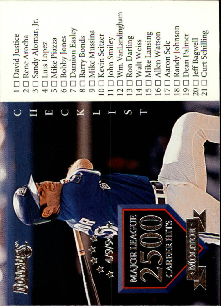 1995 Donruss #110 Paul Molitor CL
