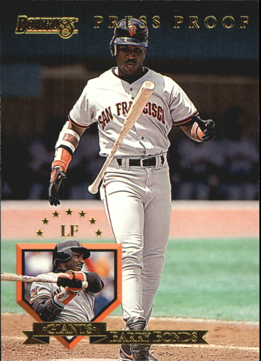 1995 Donruss Press Proofs #8 Barry Bonds