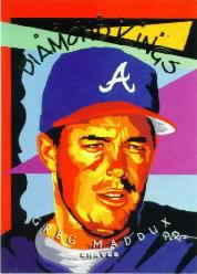1995 Donruss Diamond Kings #DK22 Greg Maddux