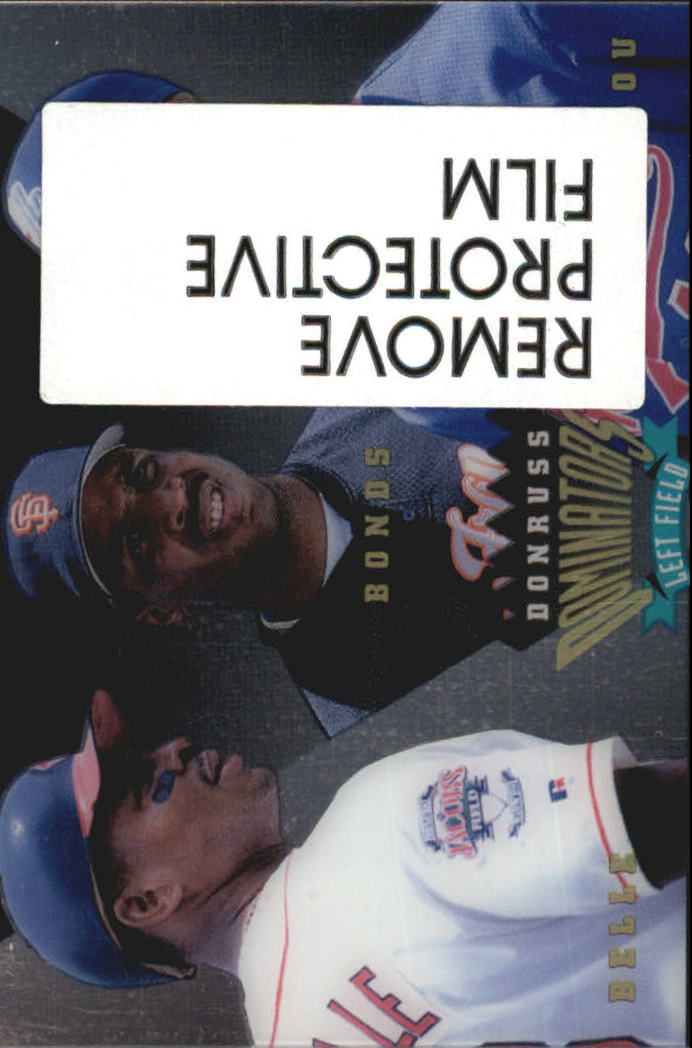 1995 Donruss Dominators #7 Bonds/Alou/Belle