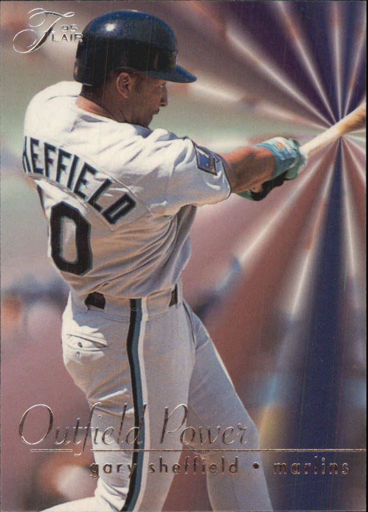 1995 Flair Outfield Power #9 Gary Sheffield