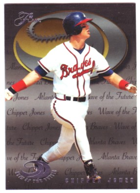 1995 Flair Wave of the Future #9 Chipper Jones