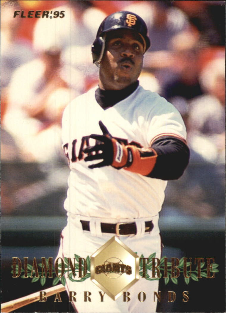 1995 Fleer Update Diamond Tribute #3 Barry Bonds