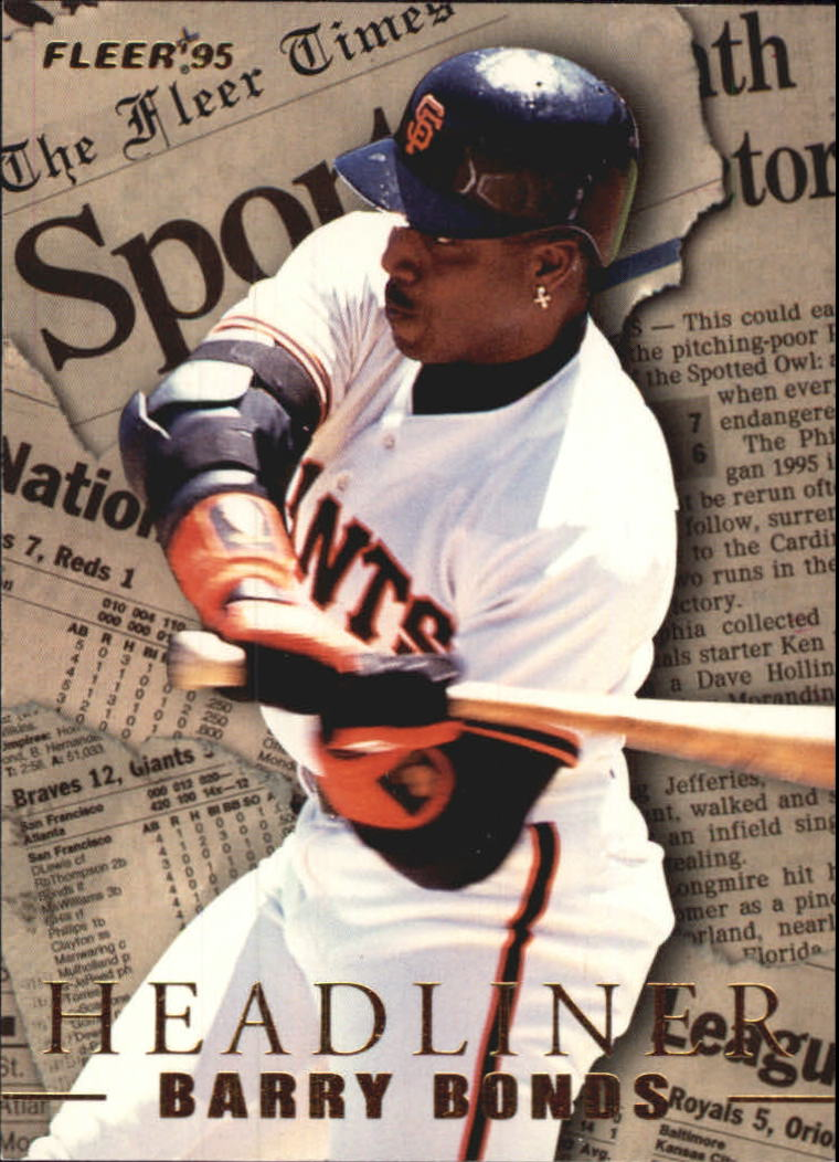 1995 Fleer Update Headliners #3 Barry Bonds