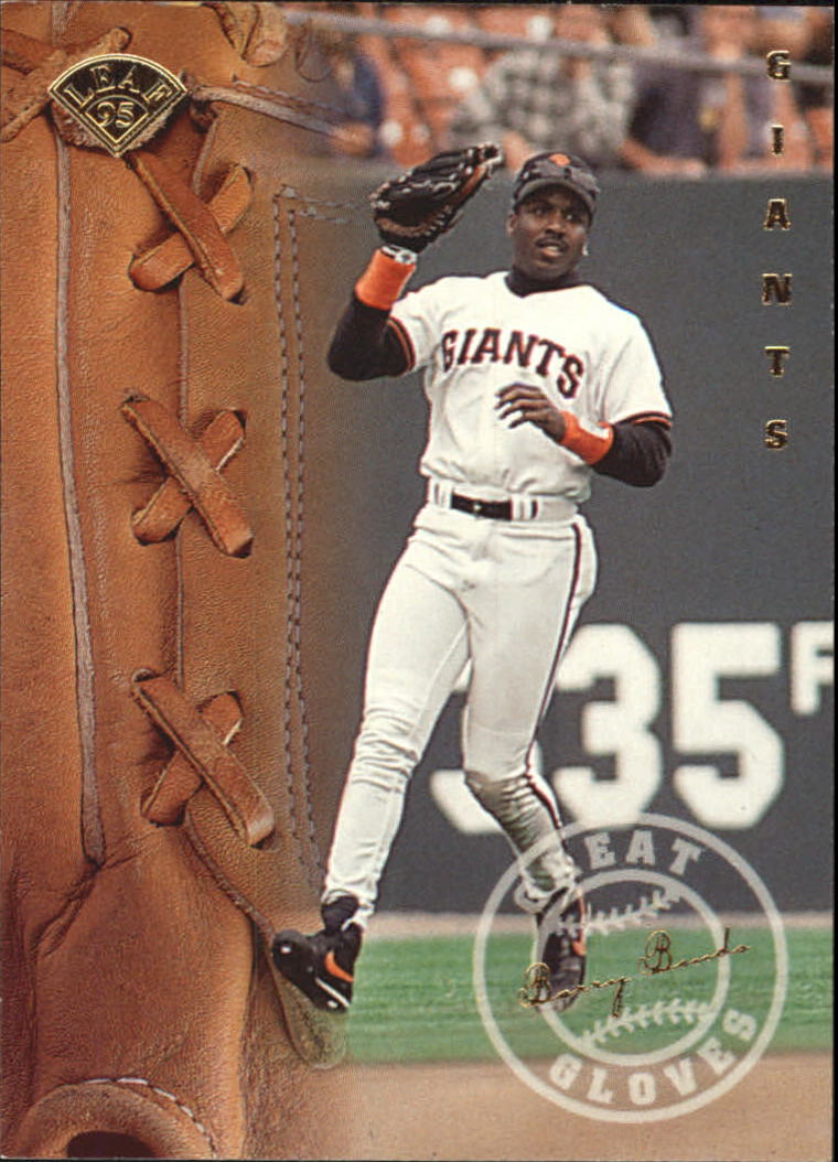 1995 Leaf Great Gloves #3 Barry Bonds front image