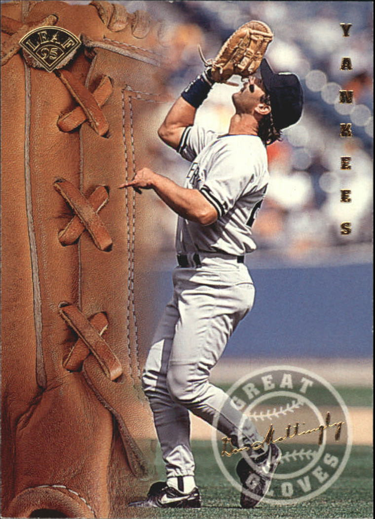 1995 Leaf Great Gloves #10 Don Mattingly