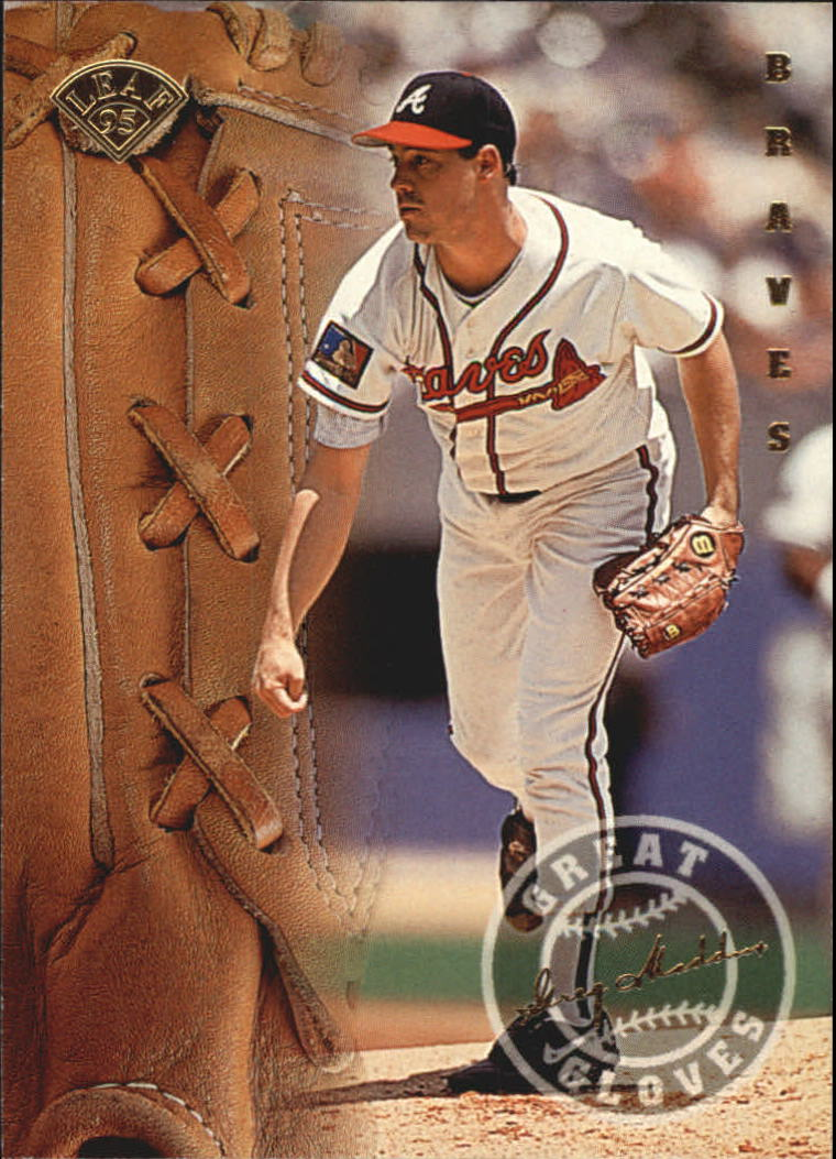 1995 Leaf Great Gloves #11 Greg Maddux