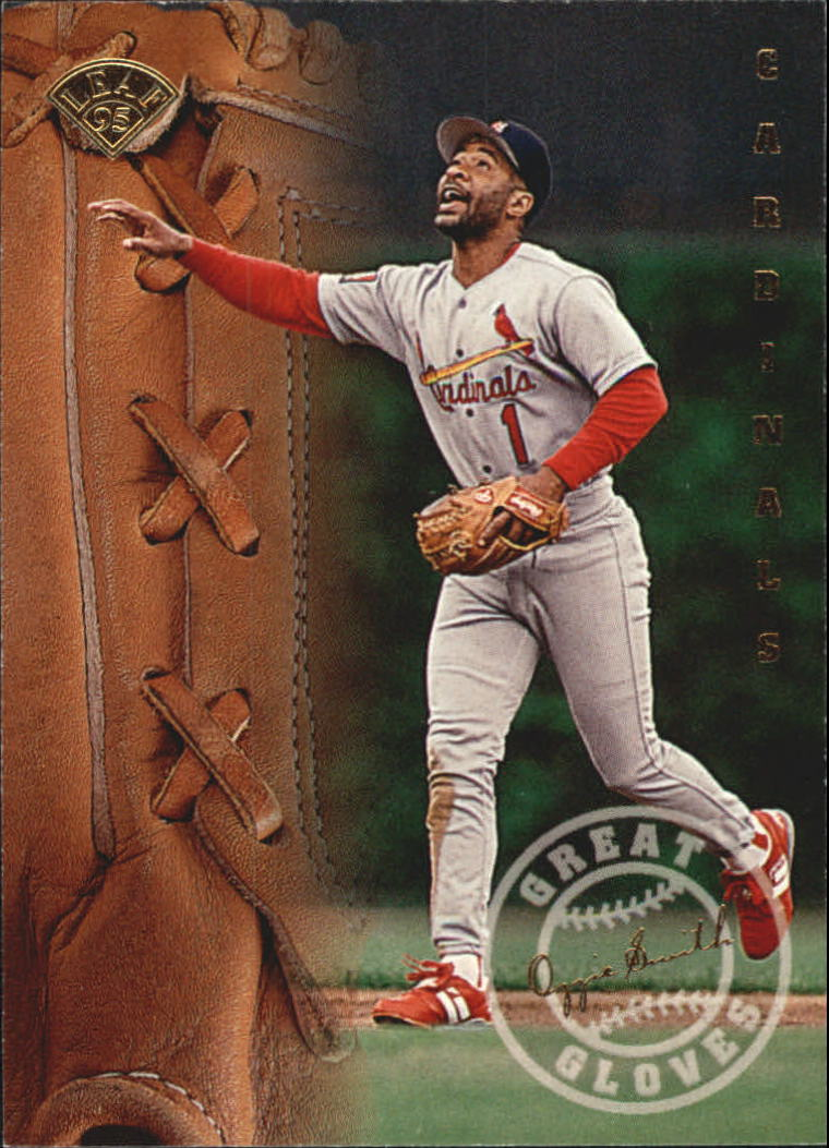 1995 Leaf Great Gloves #13 Ozzie Smith