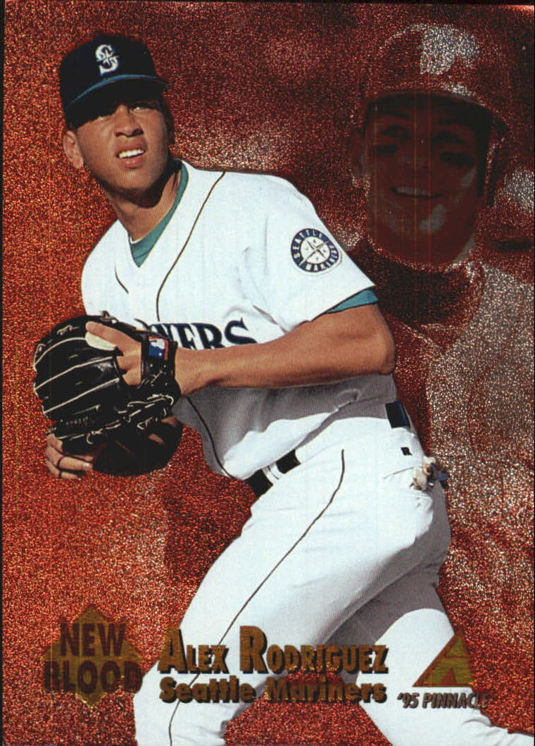 1995 Pinnacle New Blood #NB1 Alex Rodriguez