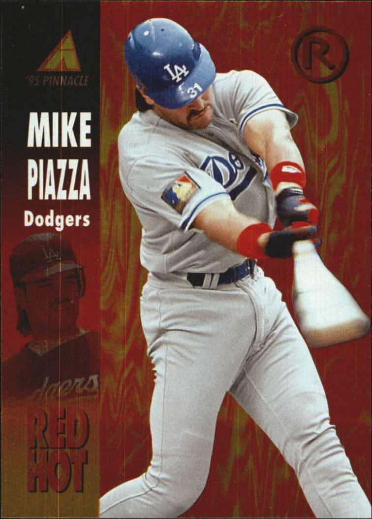 1995 Pinnacle Red Hot #RH5 Mike Piazza
