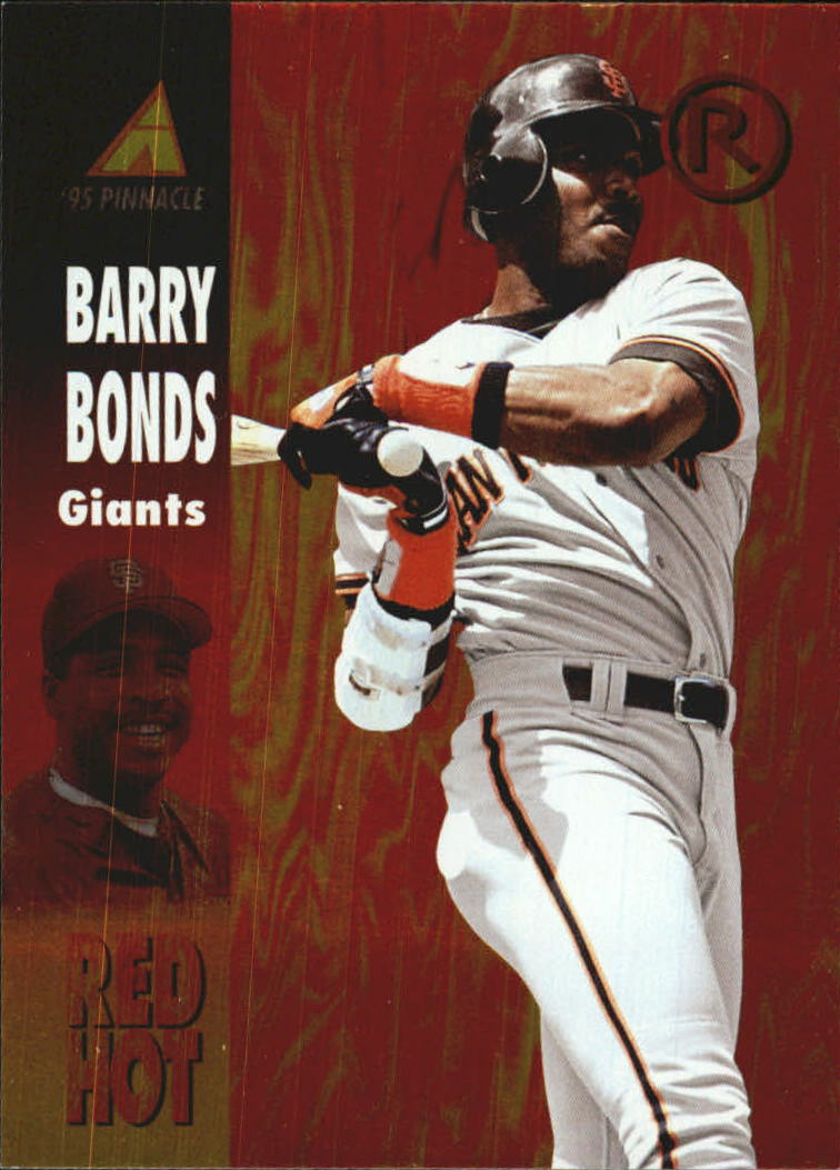 1995 Pinnacle Red Hot #RH6 Barry Bonds