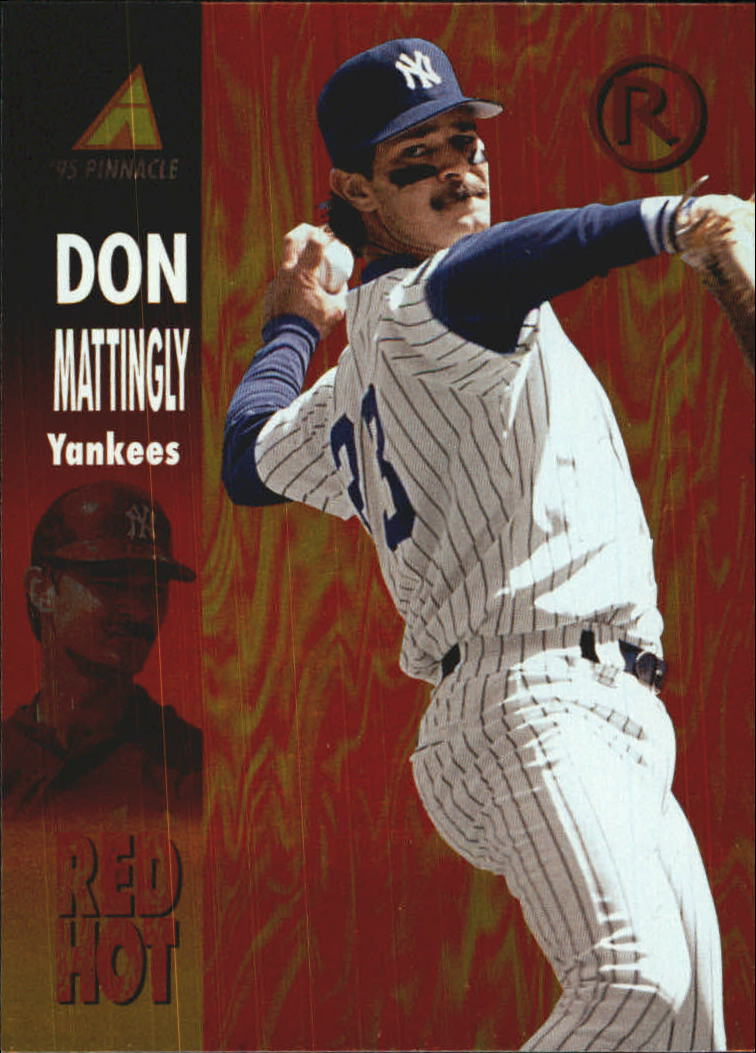 1995 Pinnacle Red Hot #RH10 Don Mattingly