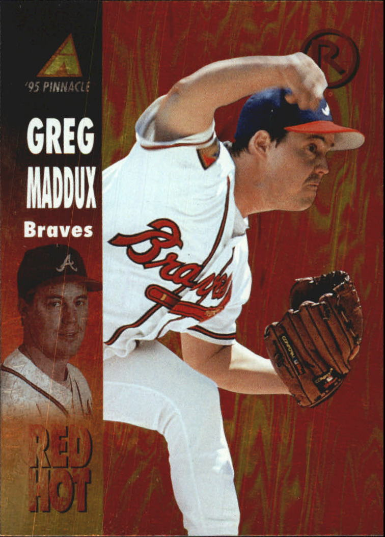 1995 Pinnacle Red Hot #RH12 Greg Maddux