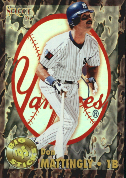 1995 Select Big Sticks #BS5 Don Mattingly