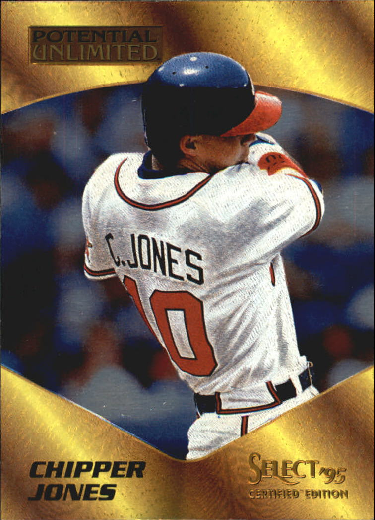 1995 Select Certified Potential Unlimited 1975 #11 Chipper Jones