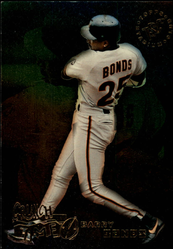 1995 Stadium Club Crunch Time #19 Barry Bonds