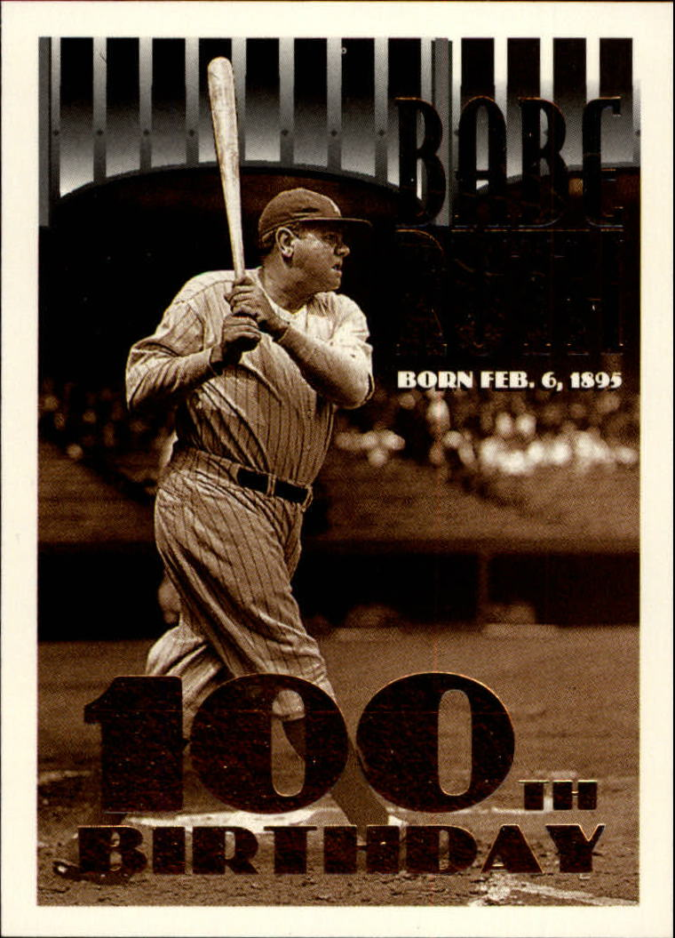1995 Topps #3 Babe Ruth 100th B-Day front image