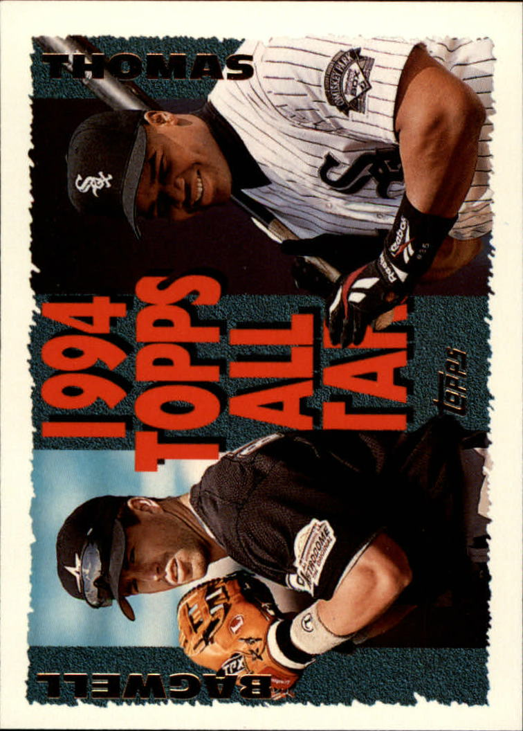 1995 Topps #384 F.Thomas/J.Bagwell AS
