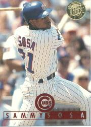 1995 Ultra Gold Medallion #139 Sammy Sosa