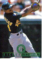 1995 Ultra Gold Medallion #318 Rickey Henderson