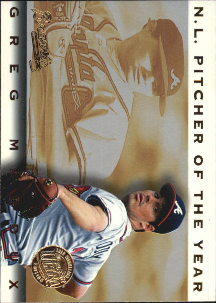 1995 Ultra Award Winners Gold Medallion #22 Greg Maddux