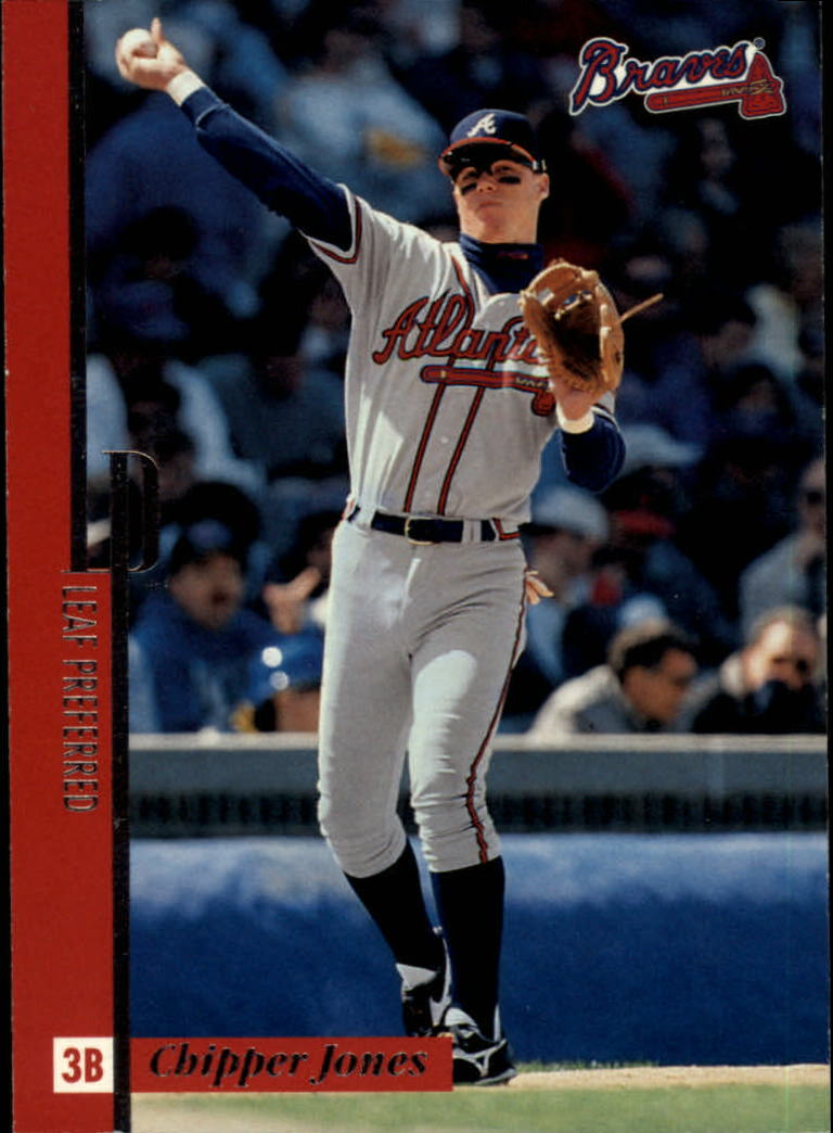 1996 Leaf Preferred #40 Chipper Jones