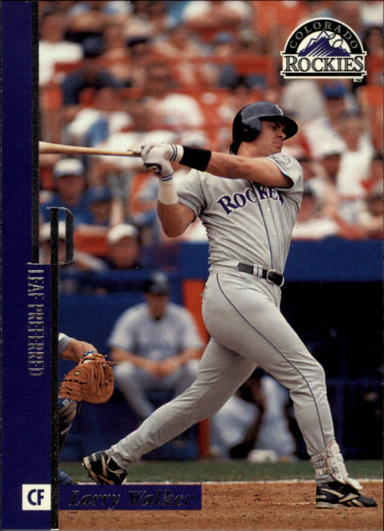 1996 Leaf Preferred #80 Larry Walker
