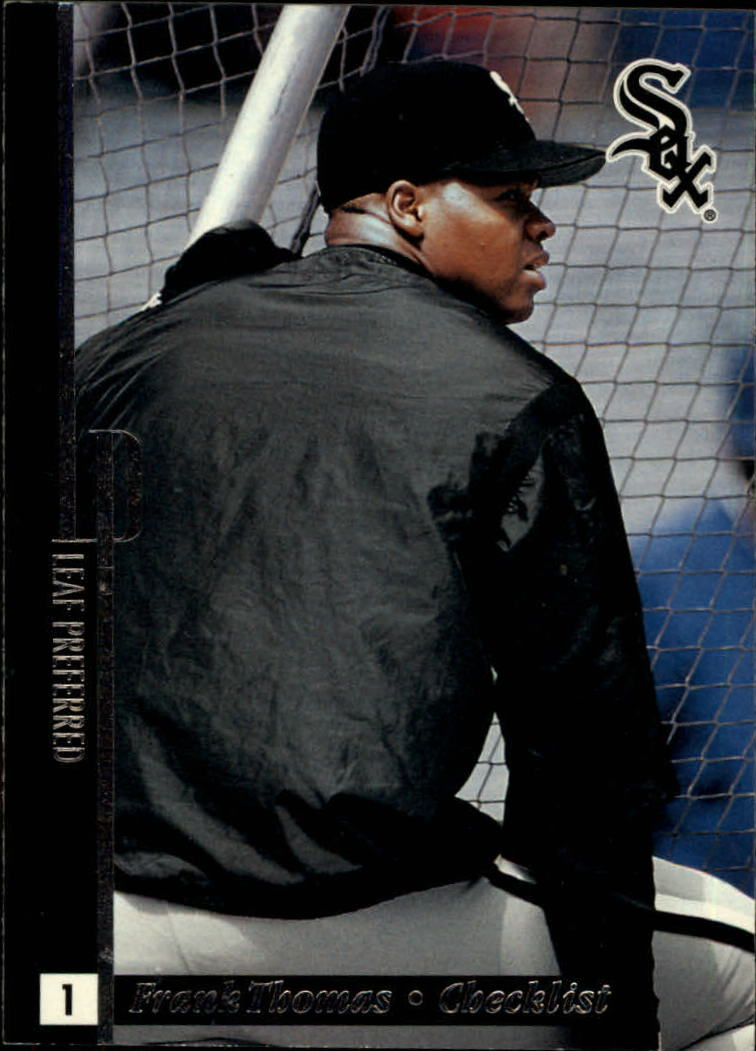 1996 Leaf Preferred #147 Frank Thomas CL
