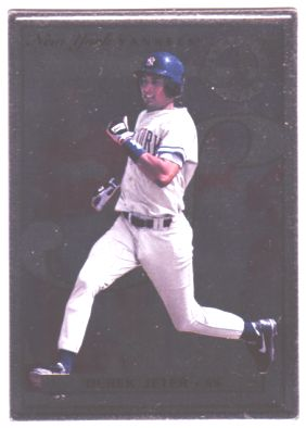 1996 Leaf Preferred Steel #40 Derek Jeter