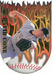 1996 Pacific Prisms Flame Throwers #FT8 David Cone