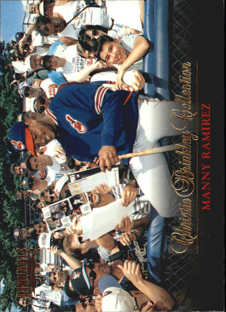 1996 Pinnacle Christie Brinkley Collection #11 Manny Ramirez