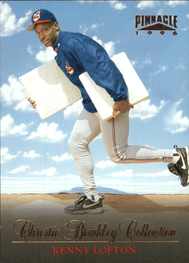 1996 Pinnacle Christie Brinkley Collection #16 Kenny Lofton