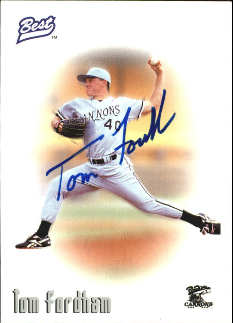 1996 Best Autographs #20 Tom Fordham