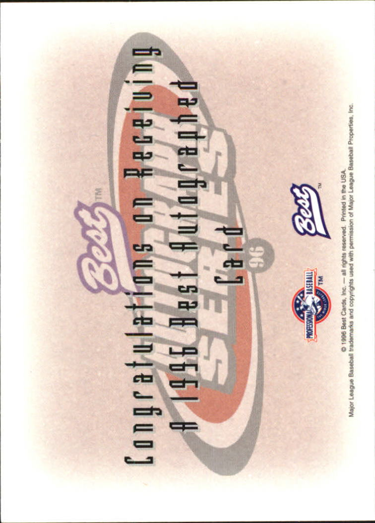1996 Best Autographs #94 Ryan Hancock