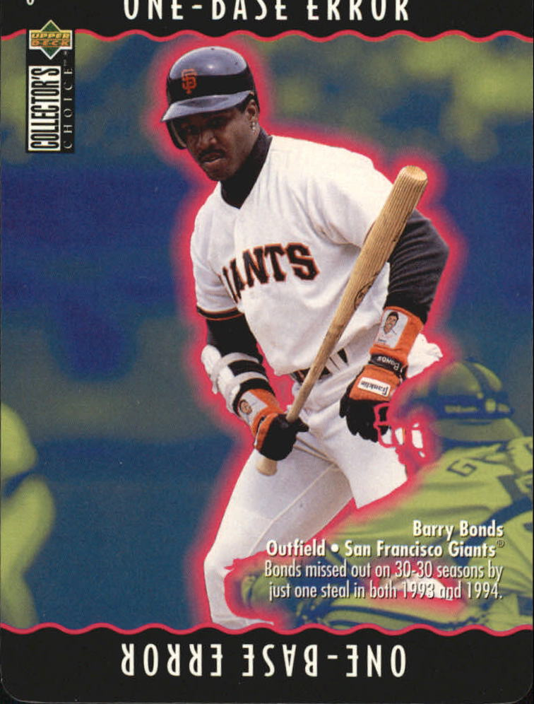 1996 Collector's Choice You Make the Play #8 Barry Bonds