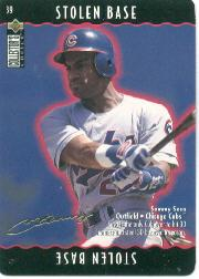 1996 Collector's Choice You Make the Play Gold Signature #39 Sammy Sosa
